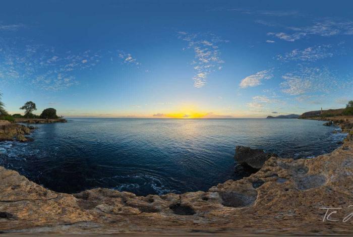 Sunset on the Rocks print